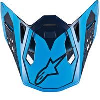 Alpinestars Replacement Visor Peak Blue/Aqua/Orange for M10 Meta Helmets