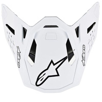Alpinestars Replacement Visor Peak White/Black for M10 Dyno Helmets