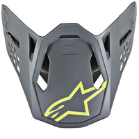 Alpinestars Replacement Visor Peak Fluro Yellow/Grey for M8 Radium Helmets