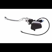 Brembo PSC12/25 Clutch Master Cylinder w/Reservoir & Lever Black/Silver for Ducati Multistrada 1100/S 09