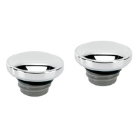 Bailey 03-0305 Screw-in Fuel Caps Chrome for all 1996-99 Models (Pair)