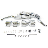 Bailey 07-0540 Handlebar Control Kit Chrome Twin Disc 3/4 82-95 Big Twin & Sportster