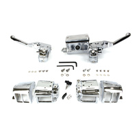 "Bailey 07-0542 Handlebar Control Kit Chrome 5/8"" Bore Single Disc Big Twin & Sportster"