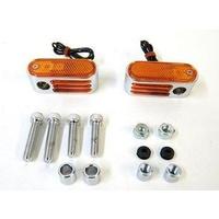 """Bailey 12-6137S Doss Style Marker Lights 5/16"""" Hole Single Bulb (Pair)"""