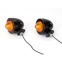 Bailey 20-6506BBE-2 Bullet Amber Turn Signals Black (Pair) w/Single 12V Filament Bulb.
