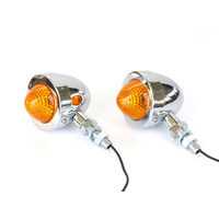 "Bailey 20-6506BLE-2 Bullet Turn Signals w/2"" Mount Stud Chrome (ECE Approved!) (Pair)"