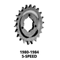 Bailey 26-0037-24 Transmission Drive Sprocket 24t Big Twin 5  Speed 80-85
