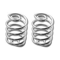 "Bailey 28-6105 Seat Spring (Pair) Chrome 3"" Coil Style"