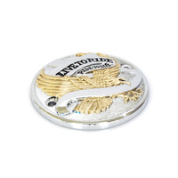 Bailey BAI-30-0152CA Live to Ride Points Cover Chrome Gold for Big Twin 70-99