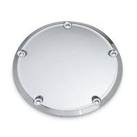 Bailey BAI-33-0054 Plain Derby Cover Chrome for Softail 00-18/Dyna 99-17/Touring 99-15