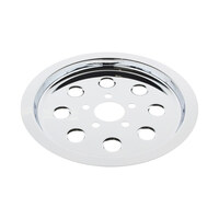 Bailey 33-0057 Pulley Cover Big Twin'L94-99 65T w/Bolts Chrome