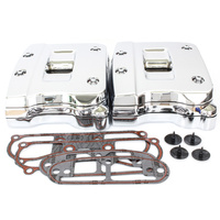 Bailey 33-0087 Rocker Box Cover Assemblie (Pair) Chrome Big Twin 92-99