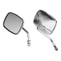 Bailey 60-0013 Mirror Right Side Mirror w/Short Stem Chrome OEM '73-02 Style (Each)