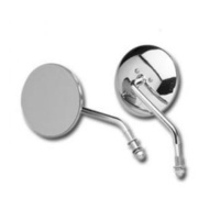 "Bailey 60-0075L Left Side 4"" Round Style Mirror w/Short Stem Chrome"