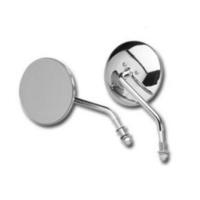 "Bailey BAI-60-0075L 4"" Round Mirror w/Short Stem Chrome for Left Side"