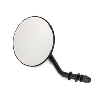 """Bailey BAI-60-0075MBR 4"""" Round Mirror w/Short Stem Black for Right Side"""