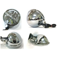 "Bailey L20-6115LED Headlight 5 3/4"" L.E.D Stretched Assembly Chrome With Bottom Mount"