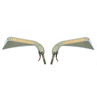 Bailey M60-6356LED Sickle Slim Mirror Avenger Style Chrome w/L.E.D Marker Lights