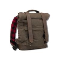 Burly Brand BB15-1020D Voyager Back Pack Bag Dark Oak