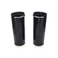 Biker's Choice BC-49-6033 Extended +2? Fork Slider Covers Black for FLH'14up