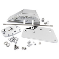 "Bikers Choice Floorboard 2"" EXT CHROME FWD KIT Z056257"
