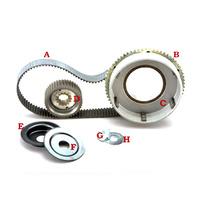 Belt Drives Ltd. BDL-61-41RB Closed Belt Kit Big Twin'79-84 4 Speed Belt Drive Rear Electric Start Use OEM Clutch 1.5