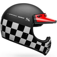 Bell 2020 Moto-3 Helmet Fasthouse Checkers Matte & Gloss Black/White/Red