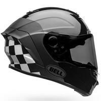 Bell 2020 Star DLX MIPS Helmet Lux Checkers Matte & Gloss Black/White