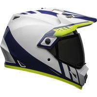 Bell 2020 MX-9 Adventure MIPS Helmet Dash White/Blue/Hi-Viz