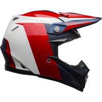 Bell 2020 Moto-9 Flex Helmet Division Matte/Gloss White/Blue/Red
