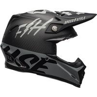 Bell 2020 Moto-9 Flex Helmet Fasthouse WRWF Matte/Gloss Black/White/Grey