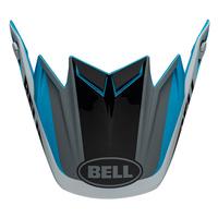 Bell Replacement Peak Division Matte/Gloss White/Black/Blue for Moto-9 Flex Helmets