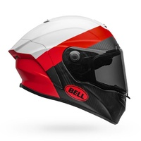 Bell 2020 Race Star DLX Helmet Surge Matte & Gloss White/Red