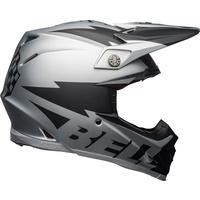 Bell 2021 Moto-9 Flex Helmet Breakaway Matte Silver/Black