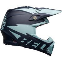 Bell 2021 Moto-9 Flex Helmet Breakaway Matte Navy/Light Blue