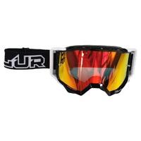 Blur B-Zero OTG Goggle Black w/Radium Red & Clear Lens