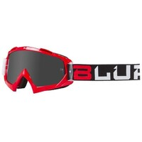 Blur B-10 Goggle Two Face Red/Black/White w/Silver Lens