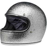 Biltwell Gringo Helmet Bright Silver Metal Flake