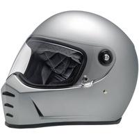 Biltwell Lane Splitter Helmet Matte Silver