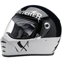 Biltwell Lane Splitter Helmet Rusty Butcher Edition Black/White