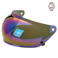 Biltwell Gringo S Anti-Fog Bubble Visor Rainbow Mirror