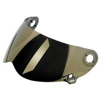 Biltwell Flat Visor Shield Gold Mirror for Lane Splitter GEN2 Helmets