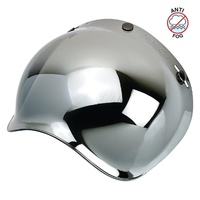 Biltwell Gringo Anti-Fog Bubble Visor Chrome Mirror