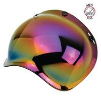 Biltwell Gringo Anti-Fog Bubble Visor Rainbow Mirror