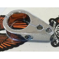 "Custom Cycle Engineering CCE-9726-1 Cable Clamp Chrome w/2 x 5mm Throttle Cable Holes for 1"" Handlebars"