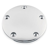 Custom Chrome 030135 Points Cover Twin Cam 99--up 5 hole (Inc Points Cover Bolts)
