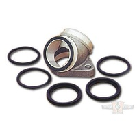 Custom Chrome 040351 Converts Adapter for 1957-79 O'Ring Manifold to '80-84 Wideband Style