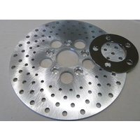"Custom Chrome 25638 Drilled Brake Disc 10"" O.D for Big Twin & Sportster 1972-78"