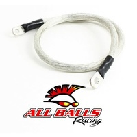 "ALLBALLS BATTERY CABLE 25"" LONG INC TERMINAL FOR HARLEY OR CUSTOM"
