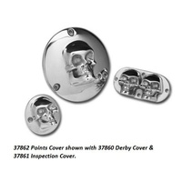 Custom Chrome 37862 Skull Points Cover 2 Hole Big Twin'70-98